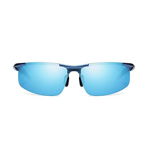 Lunettes Bwiv Protection Métal Sport Monture de Incassable Moto Cyclisme Conduite Lunettes Homme de Bleu Conduite Polarisé Soleil Ski Bleu UV400 en Yr0YSq