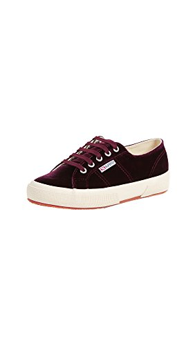 Superga Women 2750 Velvetw Fashion Sneaker Bordeaux