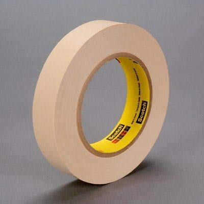 3M Scotch 250 Flatback Masking Tape, 200 Degree F Performance Temperature, 58 lbs/in Tensile Strength, 60 yds Length x 1