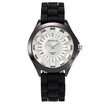 Sports watches Relojes de Hombre Mujer Reloj Casual/Reloj de Moda Chino Reloj Casual Silicona Banda Casual/Moda Negro/Blanco/Azul/Un año Relojes de Mujer ...