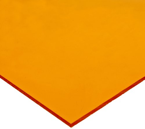 Acrylic Sheet, Opaque Amber, Standard Tolerance, 0.100