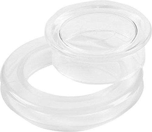 Patio Umbrella Ring & Plug Set, Clear Plastic, 2-In Diame...