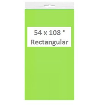 Charmant Solid Color Disposable Plastic Tablecloths/Table Covers, Rectangular (1,  Neon Green)