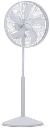 Mellerware Ventilatore Air Power 50 Ventilatore a piedistallo 5 pale 3 velocità Finitura metallizzata. Piedino regolabile. bianco