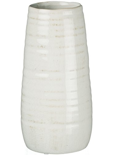 Sullivans Ceramic Vase, 11.5 x 5 Inches, Distressed White (CM2496)