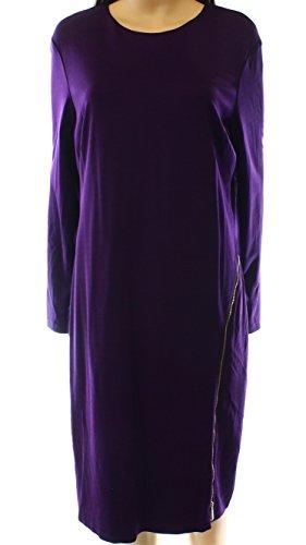 Zip Detail Sheath Dress - 1