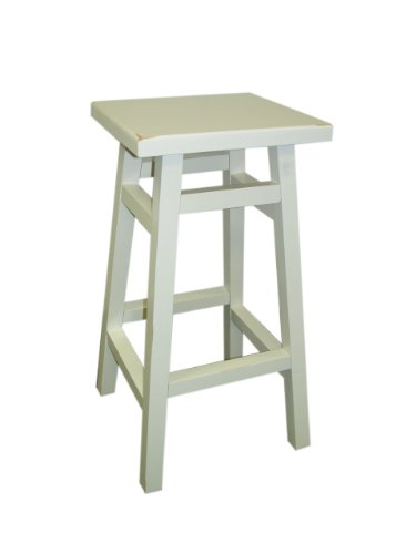 Carolina Cottage 24 in. Antique White O'Malley Pub Counter - Carolina Cottage Stools Antique Bar