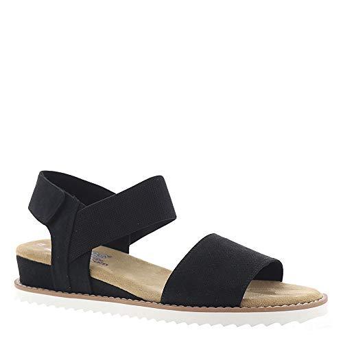 Skechers Women's BOBS Desert Kiss, Sandals, Black, 7.5 US M ()