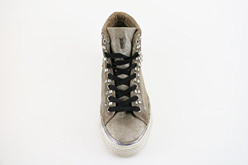 CRIME sneakers donna marrone camoscio tessuto AH900