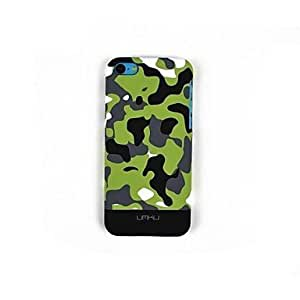 CECT STOCK Diseño especial del camuflaje Caso luminoso para iPhone5C , 6