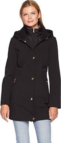 Anne Klein Women's Corey Coat Black Large