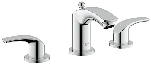 Eurosmart New 8 in. Widespread 2-Handle Low Arc Bathroom Faucet - Grohe Bathroom Sink