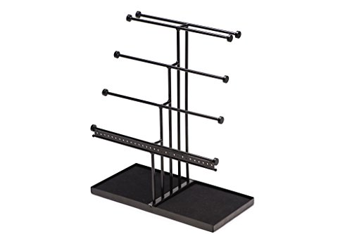 Castlencia Black Velvet Tray Extra Large 5 Tier Tabletop Bracelet, Necklace, Earring Display Jewelry Tree – Jewelry Organizer Holder - Perfect Gift by Castlencia (Image #1)
