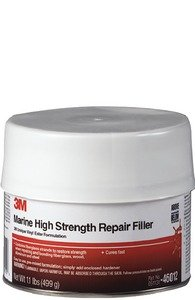 3M White 1 pt 46012 Marine High Strength Repair Filler-Pint by 3M (Image #2)