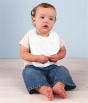 (Rabbit Skins Organic 2-Ply Baby Rib Bib - White (One) Toys Baby Kids Games)