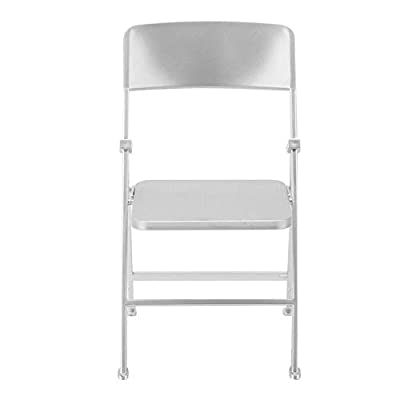 Qii lu Dolls Folding Chair,Silver 1/6 Scale Dollhouse Miniature Furniture Folding Chair for Dolls Action Figure (Sliver): Toys & Games