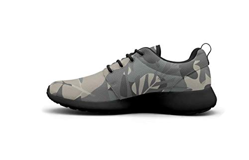 Running Womens Camouflage Shoes Tropical Walking AKDJDS Black Taupe Shoes Leaf Charcoal Shoe vYAw7