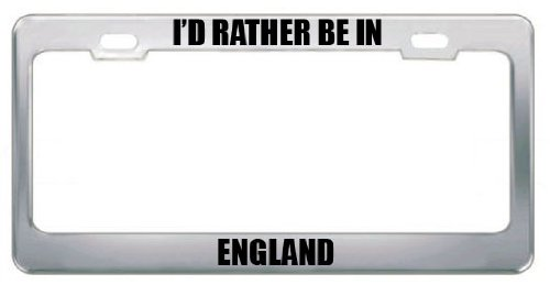(RATHER BE IN ABERDEEN SOUTH DAKOTA Metal License Plate Frame Tag Holder)