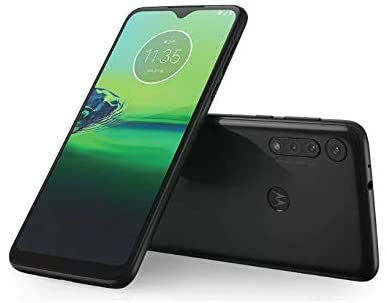 "Motorola Moto G8 Play (32GB, 2GB RAM) 6.2"" HD+ Display, Dual SIM GSM Unlocked (AT&T/T-Mobile/Metro) - XT2015-2 - International Version (Obsidian Grey, 32GB + 64GB SD + Case Bundle)"