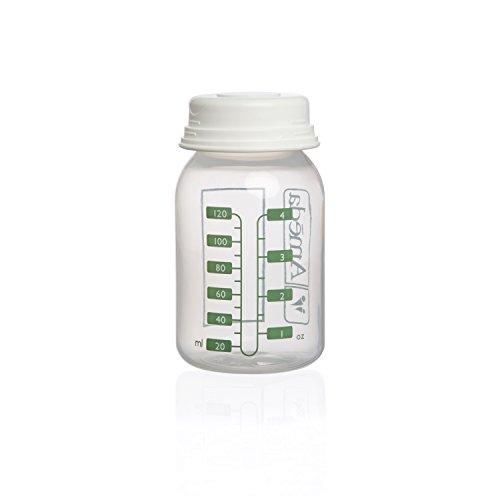 - Ameda Breast Milk Storage Bottles, Clear, 2 Count