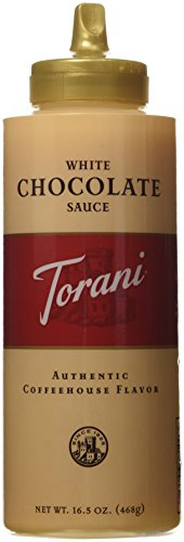 Torani White Chocolate Sauce,16.5 oz Squeeze Bottle (New (Chocolate Mocha Cocoa)