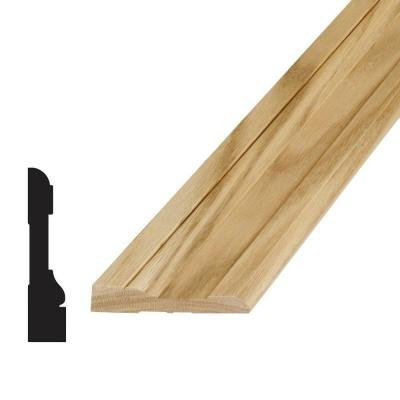(1 in. x 1 in. x 96 in. Wood North America Knotty Pine Outside Corner Moulding)