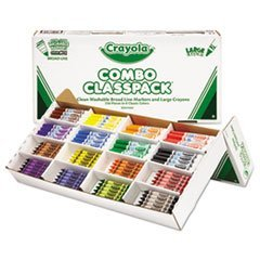 Classpack Crayons W/markers, 8 Colors, 128 Each Crayons/markers, 256/box By: Crayola by Office Realm