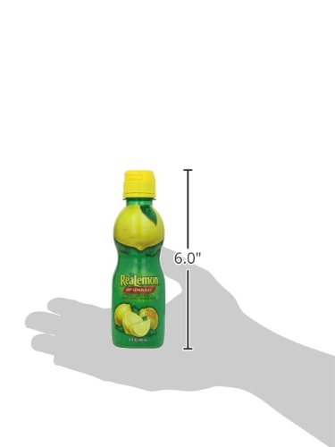 ReaLemon 100% Lemon Juice, 8 Fluid Ounce Bottle 5 One 8 fluid ounce bottle 100% lemon juice from concentrate Great for use in recipes and beverages