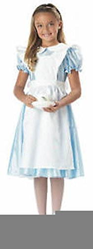 [POPLife Classic Alice In Wonderland Girls Tea Party Costume] (Child White Rabbit Costume Alice In Wonderland)