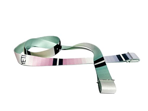 YETI YOGA - The Helena Yoga Carrier/Stretching Strap, Durable Two-in-One Yoga Strap, 100% Cotton with Metal - Helena Buckle