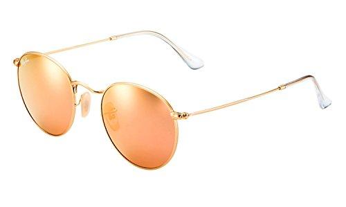 Ray-ban lunettes de soleil round flash objectifs de cuivre