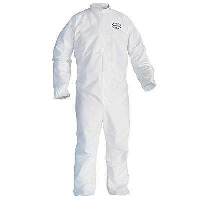 Kleenguard A45 Liquid & Particle Surface Prep & Paint Protection Coveralls (41488), Reflex Design, Zipper Front, White, 3XL, 25 / Case