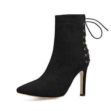 RTRY Zapatos De Mujer Polipiel Primavera Otoño Invierno Bomba Básica Comfort Novedad Botas Stiletto Talón Lace-Up Para Boda Oficina Informal &Amp; Carrera US7.5 / EU38 / UK5.5 / CN38