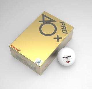 Sanwei 3étoiles ABS professionnel Balles de tennis de table–Lot de 6–Blanc–compétition Approuvé Approuvé par ITTF Ping Pong Balles Topspin Sports