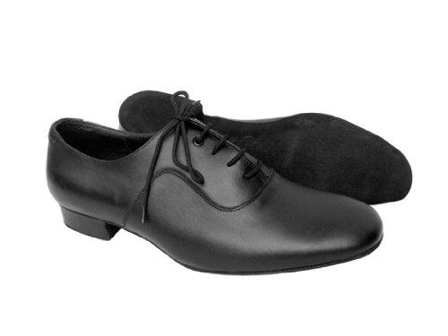 Mycket Fina Skor Mens Standard & Släta Signatur Serie S301 (svart Patent Eller Svart Läder) 1 Häl Svart Läder