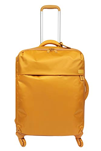 Lipault - Original Plume Spinner 72/26 Luggage - Large Suitcase Rolling Bag for Women - Mustard (Best High End Luggage)