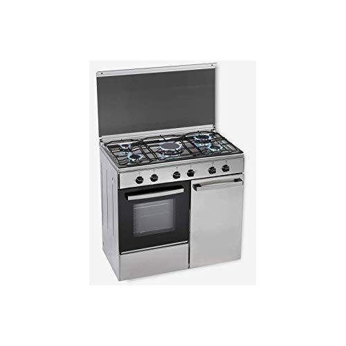 Rommer Cocina CH936XPBINOX, Inox, Butano, Portabom: Amazon.es ...