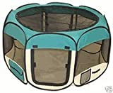 Teal Pet Tent Exercise Pen Playpen Dog Crate XS
