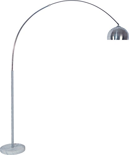 Milton Greens Stars Skyler Adjustable Arc Floor Lamp with Marble Base, 81-Inch