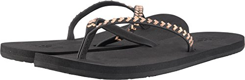 Reef Women's Bliss Embellish Flip Flop, Black/Bronze, 10 M US