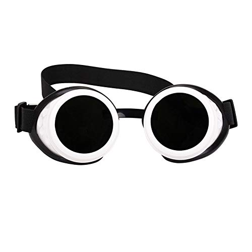 Clout Glasses White Vintage Sunglasses Round Lens Steampunk goggles ()