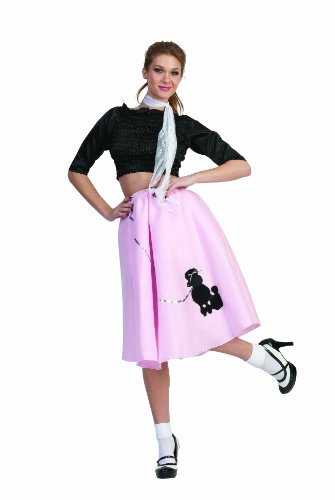 RG Costumes Women's Poodle Skirt, Pink, One Size]()