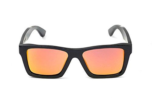 Bamboo Sunglasses Black Frame/Fire Polarized - Glasses Swell