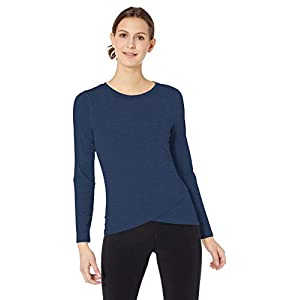 Amazon Essentials Women's Studio Long-Sleeve Cross-Front T-Shirt
