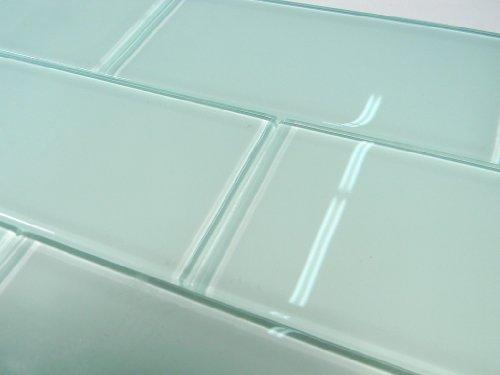 Arctic 3x6 Polish Subway Crystal Glass Tile ()