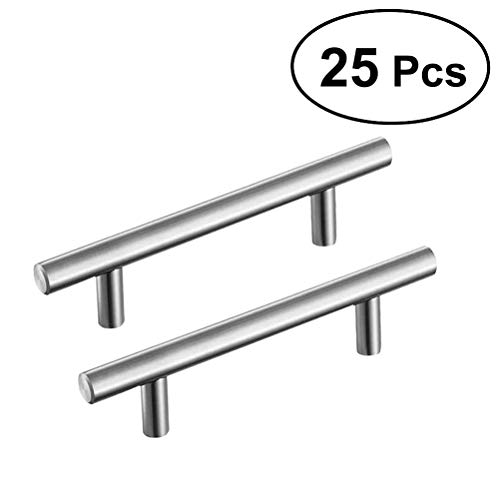 US Seller 25 Pack ABS Kitchen Door Cabinet Handles T Bar Pull Knobs 7.8 Tools
