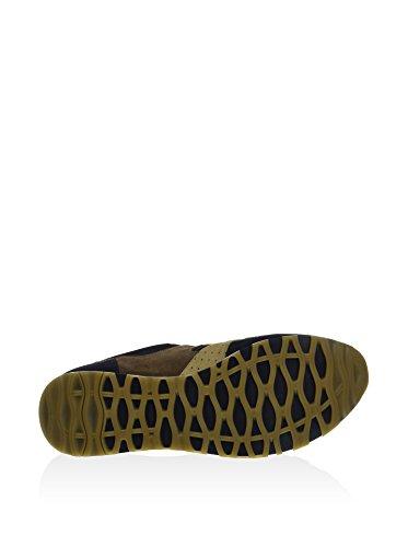 John Galliano 168218 Sneaker Leder blau braun Nachtblau/Braun