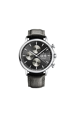 Edox Men's 01120 3 GIN Les Bemonts Analog Display Swiss Automatic Grey Watch