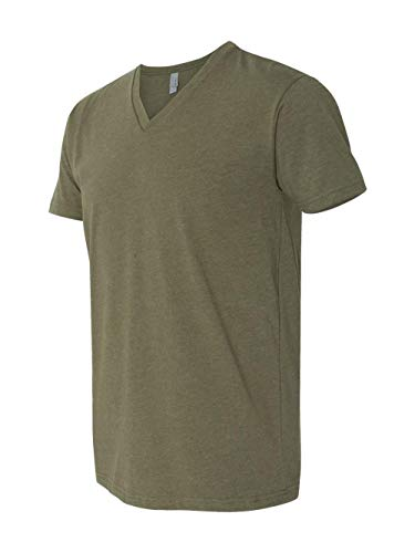 Next Level Apparel 6240 Mens CVC V-Neck Tee Military Green Large from Next Level Apparel