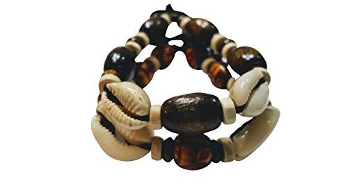 NOVARENA 2-24 Pcs Bracelets and Necklaces for Men Women Beaded Bracelets Multi Layer Stackable Ethnic Tribal African Traditional (2 Pcs Bracelets Set - Style ()